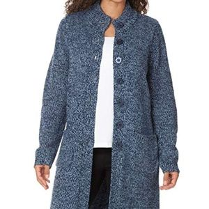 Sweaters - Marled Plus Size Navy Sky Blue Sweater Jacket
